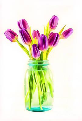 Fresh Tulips Art Print by Darren Fisher