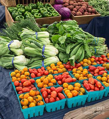 Banana Peppers Photograph - Fresh Vegetables  by Arlene Carmel