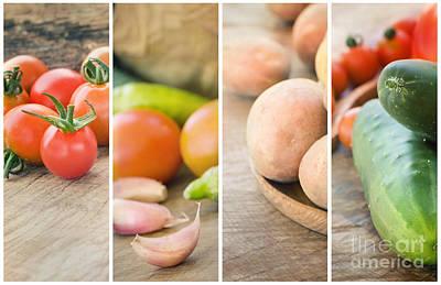 Fresh Vegetables Collage Art Print