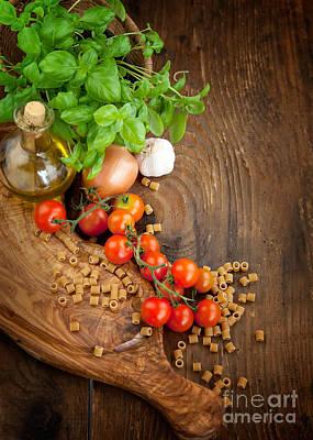 Oil Knife Photograph - Fresh Vegetables by Mythja  Photography