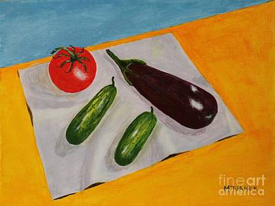 Art Print featuring the painting Fresh Vegies by Melvin Turner