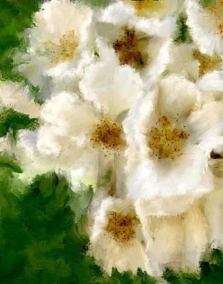 Fresh White Linen Art Print