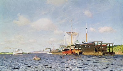 Tugboat Wall Art - Painting - Fresh Wind On The Volga by Isaak Ilyich Levitan