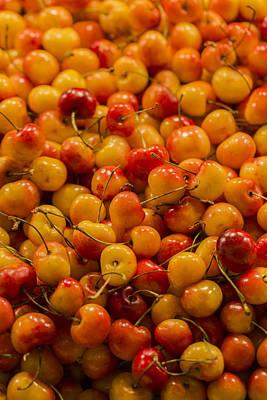 Photograph - Fresh Yellow Cherries by Scott Campbell
