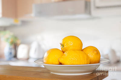 Lemon Photograph - Freshly Picked Lemons by Amanda Elwell