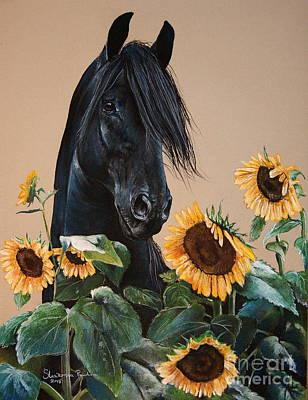 Fresian Horse Art Print by Paulina Stasikowska