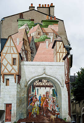 Fresque De Bourges Art Print by Oleg Koryagin