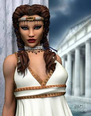 Greek Columns Digital Art - Freya by Sandra Bauser Digital Art