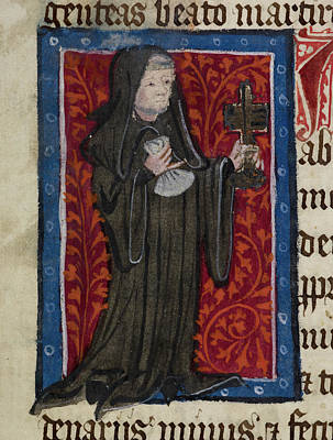Clergy Photograph - Friar In Long Robes by British Library