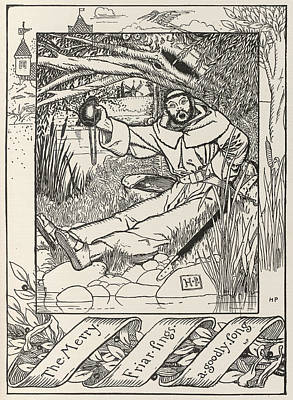 Friar Tuck Print by British Library
