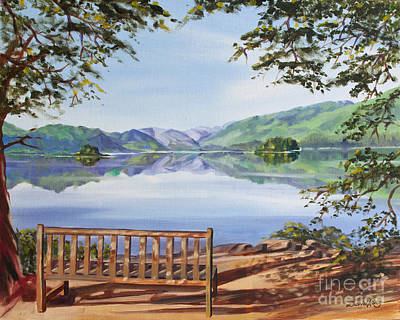 Friars Crag And Lake Derwentwater Art Print by David King