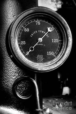 Photograph - Frick Company Steam Gauge by Michael Eingle
