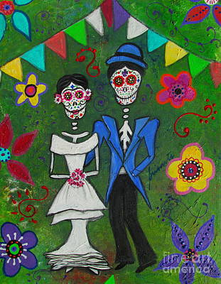 Painting - Frida And Diego's Wedding by Pristine Cartera Turkus