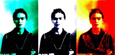 Mixed Media - Frida Bandera by Michelle Dallocchio