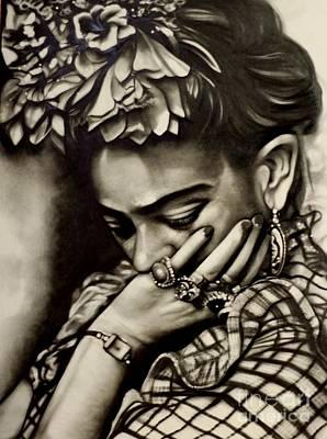 Frida Drawing - Frida  by Barbara  Rivera