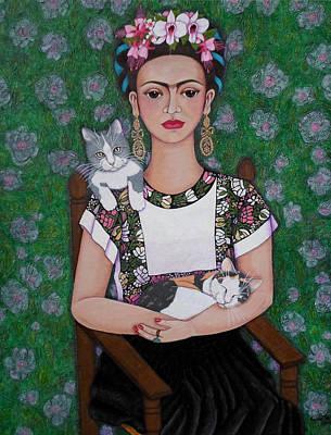 Frida Cat Lover  Original by Madalena Lobao-Tello