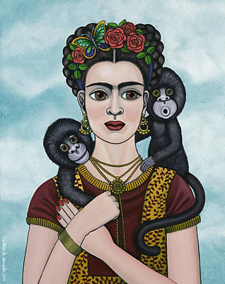 Gorilla Painting - Frida In The Sky by Victoria De Almeida