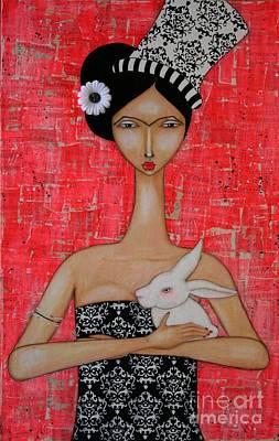 Kahlo Painting - Frida In Wonderland by Natalie Briney
