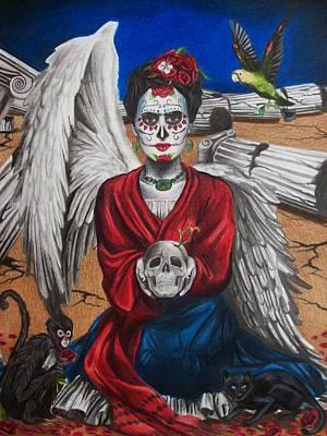 Frida Drawing - Frida Kahlo by Amber Stanford