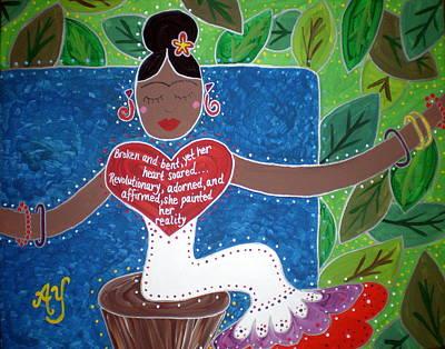 Frida Kahlo Art Print by Angela Yarber