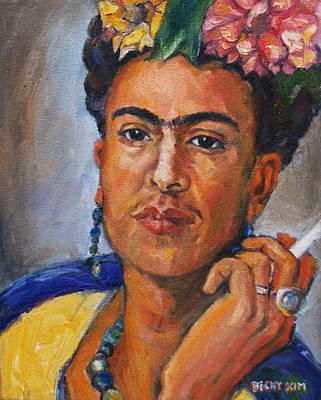 Frida Kahlo Art Print by Becky Kim