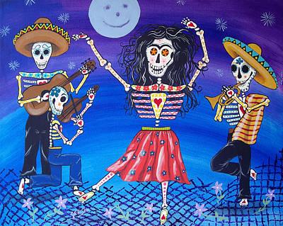 Frida Kahlo Dances Day Of The Dead Art Print