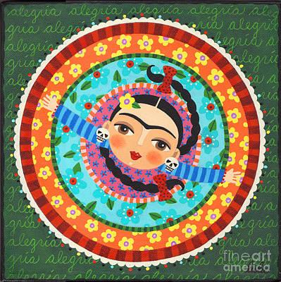 Dod Painting - Frida Kahlo Dancing by LuLu Mypinkturtle