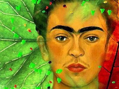 Self-portrait Mixed Media - Frida Kahlo by Daniel Janda