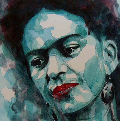 Lips Painting - Frida Kahlo by Paul Lovering