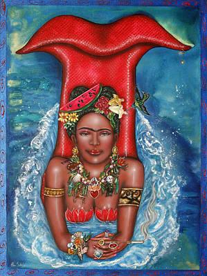 Frida Makes A Splash Art Print by Ilene Satala