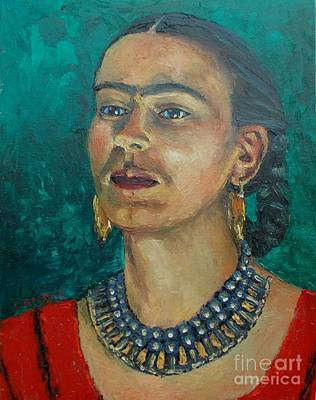 Painting - Frida Teal by Lilibeth Andre