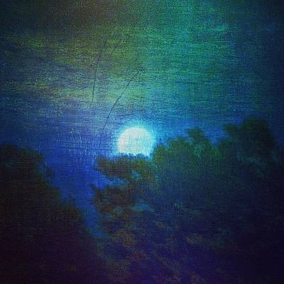 Impressionism Wall Art - Photograph - Friday 6/13/14 Full Moon - The Honey by Paul Cutright