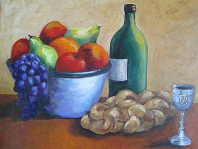 Fruitbowl Painting - Friday Night by Rosie Sherman