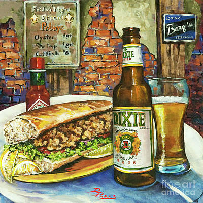 Food And Beverage Painting - Friday Night Special by Dianne Parks