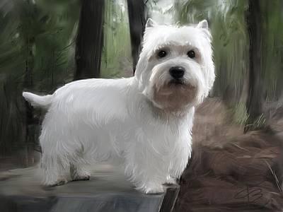 Cute Dog Digital Art - Friday The Westie by Debra Baldwin