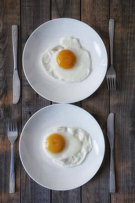 Tableware Photograph - Fried Eggs by Joana Kruse
