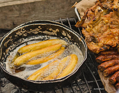 Photograph - Fried Plantains  by Allen Sheffield