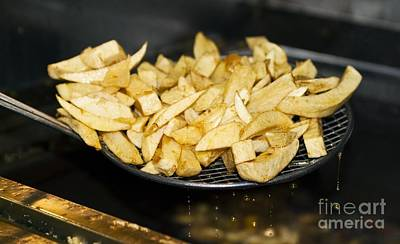 Potato Chip Photograph - Fried Potato Chips by Martyn F. Chillmaid