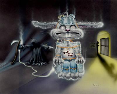 Grim Mixed Media - Fried Rabbit by Sam Davis Johnson