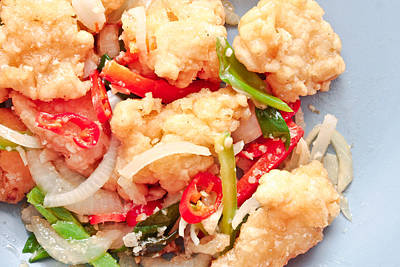 Squids Photograph - Fried Squid by Tom Gowanlock