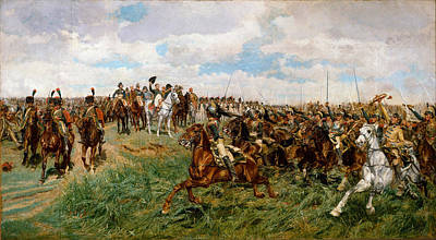 Famous Horse Art Painting - Friedland. 1807 by Ernest Meissonier