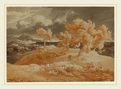Coastal Landscape Drawing - Friedrich Preller The Elder German, 1804-1878 by Litz Collection