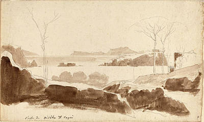 Brown Swiss Drawing - Friedrich Salathé Swiss, 1793 - 1858, View Of The Islands by Quint Lox