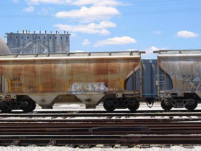 Photograph - Frieght Train Cars 7 by Anita Burgermeister