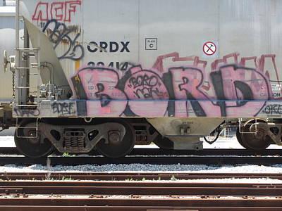 Photograph - Frieght Train Grafitti 4 by Anita Burgermeister