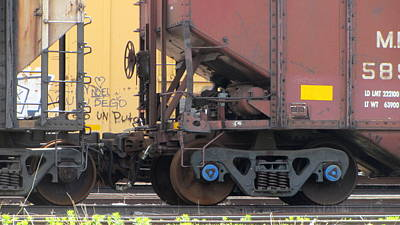 Photograph - Frieght Train Wheels 20 by Anita Burgermeister