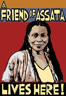 Race Mixed Media - Friend Of Assata by Ricardo Levins Morales