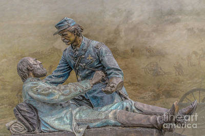 Infantry Digital Art - Friend To Friend Monument Gettysburg Version Two by Randy Steele