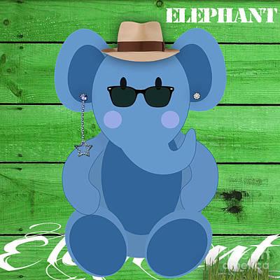 Mixed Media - Friendly Elephant Art by Marvin Blaine