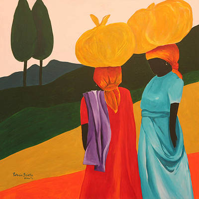 Haitian Painting - Friendly Encounter by Patricia Brintle